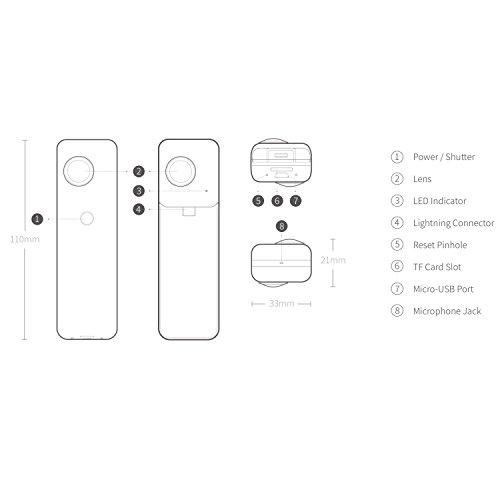 Insta360 Nano hardwrk Edition mit Halterung für Stativ oder Selfie Stick – 360 Grad Kamera für iPhone - 7
