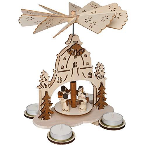 """Weihnachts - Pyramide """"Engel in Kirche"""" mit Figuren, gebraucht gebraucht kaufen  Wird an jeden Ort in Deutschland"""
