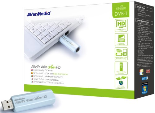 Aver Media AVerTV Volar Green HD - Sintonizador de TV (DVB-T, H.264, USB, 256 MB)