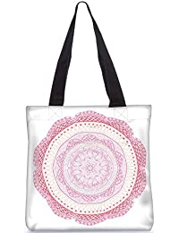 Snoogg Indian Pattern Poly Canvas Fashion Handbag Shopping Shoulder Lunch Tote Bag For Women 23543