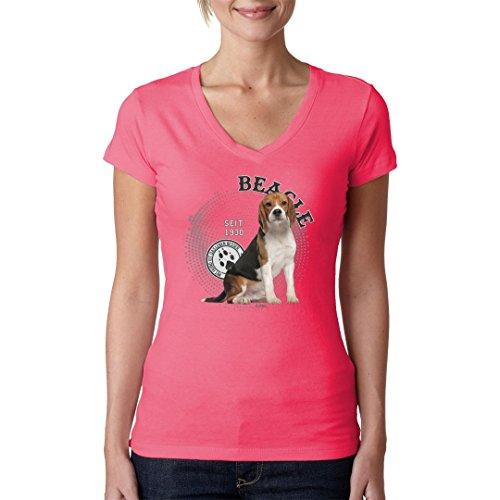 Im-Shirt - Rassehund: Beagle cooles Fun Girlie Shirt - verschiedene Farben Light-Pink
