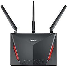 ASUS RT-AC86U- Router Gaming AC2900 Doble Banda Gigabit (QoS, USB 2.0 & 3.0, MU-MIMO, Triple VLAN, Ai-Mesh soportado)