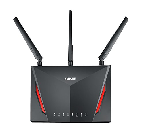 ASUS RT-AC86U- Router Gaming AC2900 Doble Banda Gigabit (QoS, USB 2.0 & 3.0, MU-MIMO, MAC backup)