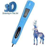 Lauva Penna 3D, Penna 3D Cordless con Filamenti di Resina Fotopolimerizzante Sostituibili e con Batteria incorporata, Ideale per il Doodling, il Modellismo ed i Progetti Scolastici (Blu)