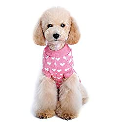 Pet Clothes , Love Heart Pet Dog Sweater