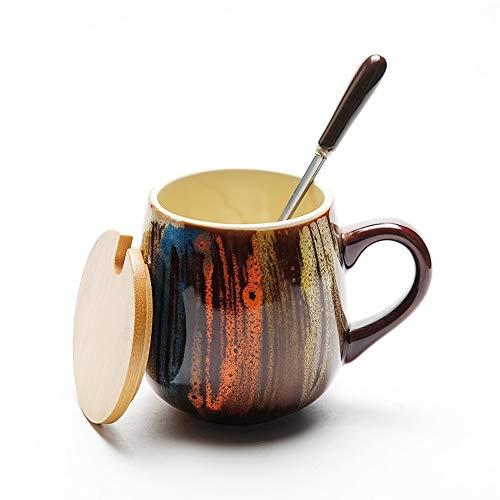 YILIAN Shuibei Kaffee-Milchschale der keramischen Weinlese handgemalte (Farbe : G)