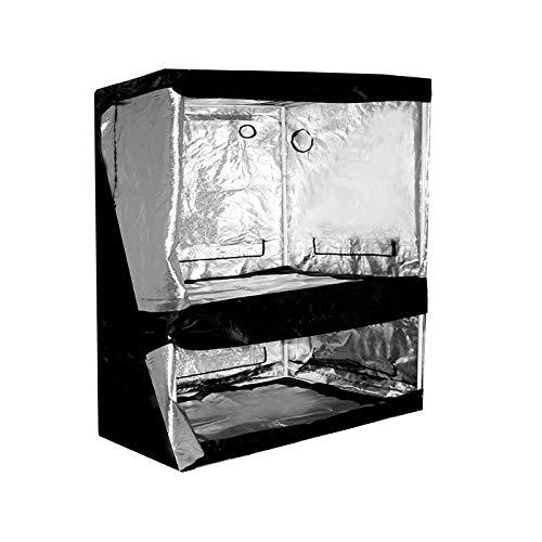 Dual Grow-Tent Silver 120 X 80 X 200 cm