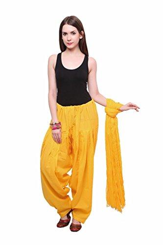 Madhu Art Women Cotton Solid Full Patiala Salwar Dupatta Set