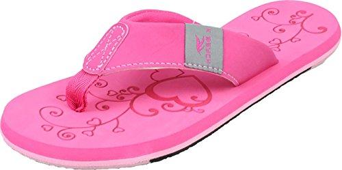 Bockstiegel KATRIN Damen Zehentrenner   Flip   36-41   Verschiedene Farben   Badelatschen   Strandschuhe   Zehenstegpantolette, Größe:37/UK 4, Farbe:Pink