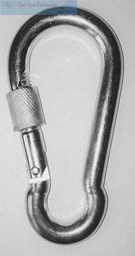 Crochet mousqueton carabine 10x100mm avec bouchon à vis