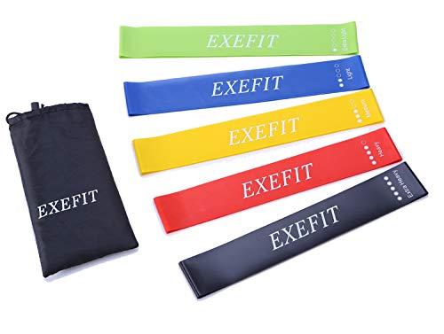 Banda elastica fitness fasce resistenza bande di esercizi set di 5 per fisioterapia per donne e uomini