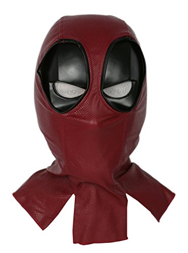 Nexthops Deadpool Maske Cosplay Mask Halloween Latexmaske Deluxe Vollkopfmaske Film Zubehör für Karneval und Fasching