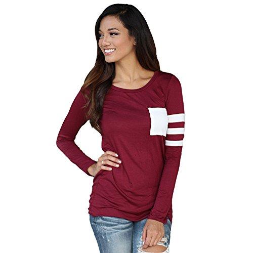 longra-mujer-camisa-de-manga-larga-cuello-redondo-empalme-blusa-tops-tamao-s-rojo