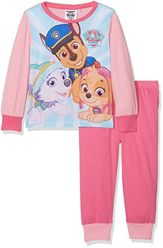 Aykroyd's Mädchen Zweiteiliger Schlafanzug Girls Paw Patrol Pj, 2er Pack, Multicoloured (P.Pink/Cerise), 92 (Für Schlafanzug Kids)