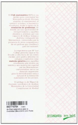 Un Club matemático para la diversidad (Secundaria para Todos)