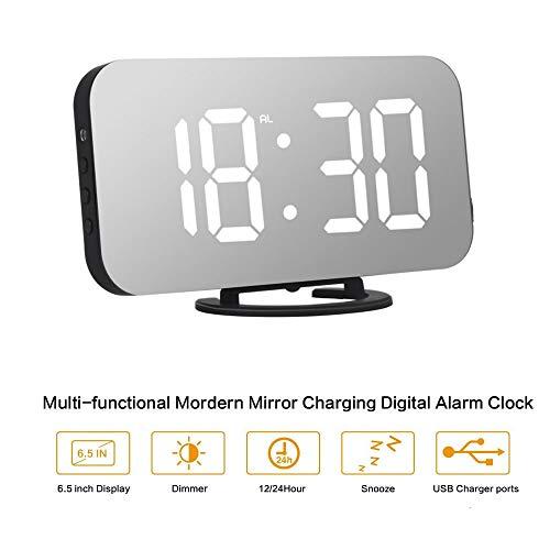 ORSERA Despertador Digital Espejo LED Despertador