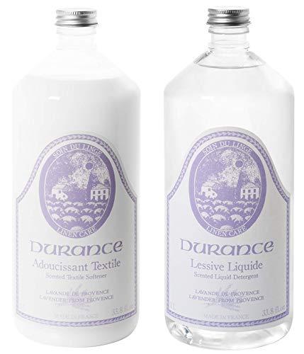 Durance en Provence - Textilpflege-Set - Waschmittel & Weichspüler Duftrichtung Lavendel - 2 x 1 L -