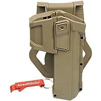 Army Force Pol?mero Hard Case Movable Holsters para G17/G18/G19 Airsoft GBB (Tan) - AirsoftGoGo Llavero Incluido