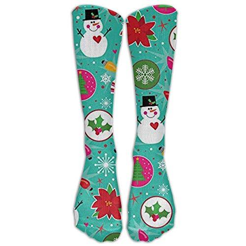 Bag shrots Happy Christmas Snowman Knee High Graduated Compression Socks For Women And Men - Best Medical, Nursing, Travel & Flight Socks (Womens Bamboo Riding Boots)
