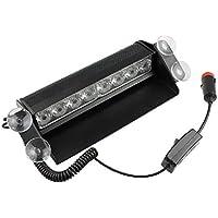 PIXNOR Estroboscópica LED de Advertencia luz camioneta vehículo Emergencia de 8-LED estroboscópica Destellador 12V (Azul)