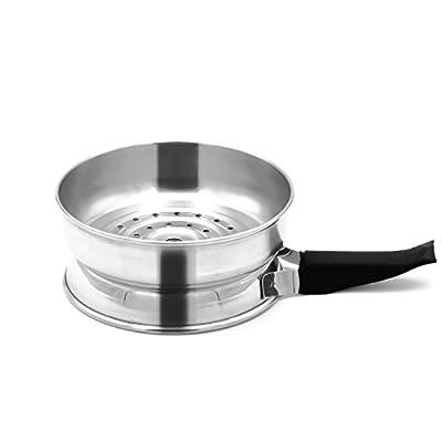 Kamin Kopf Shisha Hot Pan Kaminaufsatz Kaminkopf für Silikonköpf Wasserpfeife Hookah Kamin Aufsatz Zubehör Kamin (mit Gummigriff) von IMMIGOO