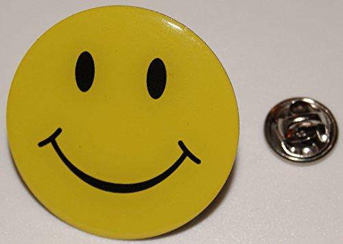 y lachendes Gesicht XL l Anstecker l Abzeichen l Pin 387 (Smilie Gesicht)