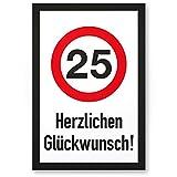 DankeDir! 25 Jahre Herzlichen Glückwunsch, Kunststoff Schild - Geschenk 25. Geburtstag, Geschenkidee Geburtstagsgeschenk Fünfundzwanzigsten, Geburtstagsdeko/Partydeko / Party Zubehör/Geburtstagskarte