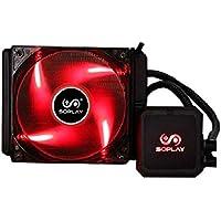 Tutto in un raffreddamento ad acqua di fan Xagoo 12 centimetri di rame, per Intel LGA775 1150 1151 115x per AMD tutte ventola del radiatore CPU