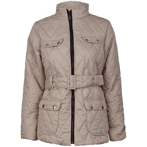 Nuevo Belted diseño de niñas de acolchada de felicitación para Paded chaqueta Barbour perchero de pared 7-13 años