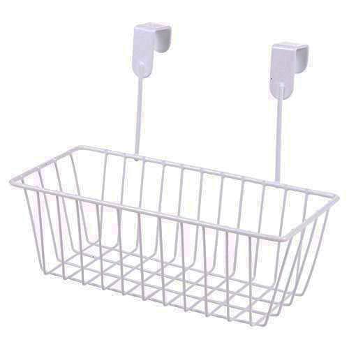 House of Quirk Over Door Kitchen Cabinet Storage Basket Undershelf Rack Holder Hanging Organiser - White