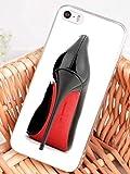 Wrap Hülle für iPhone 7+ Plus/iPhone 8+ Plus Fashion Schwarze und rote weiße Schuhe Soft Silikon
