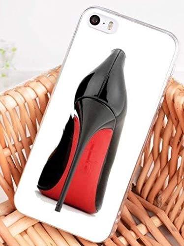 Wrap Coque iPhone 6 6S Fashion Chaussures Noir et Rouge Blanc Silicone Souple