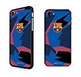 InToro FC Barcelona - Camouflage UV Case for Apple iPhone 7/8 I Ultra-Slim Bumper Cover I Anti-Scratch Smartphone Protection - Blue