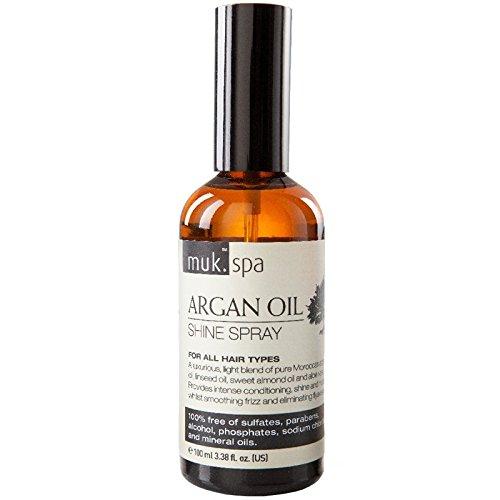 muk spa Argan Oil Shine Spray 100 ml Luxuriöses Haarspray für krauses & widerspenstiges Haar