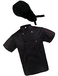 P Prettyia 1x Chaqueta con 1x Sombrero Chef de Hombre Busto de Encaje  Cómodo Uniforme Cocina f77798869a7