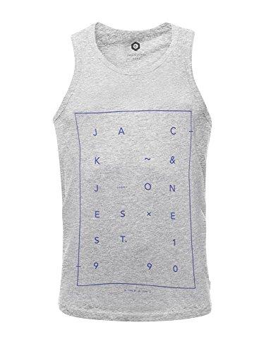 Jack & Jones Jcoair Mens Gebrandmarkt Frischen Tank Weste Directoire Blue Grey Marl