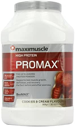 MaxiMuscle Promax 908 g Cookies and Cream Whey Protein Shake Powder