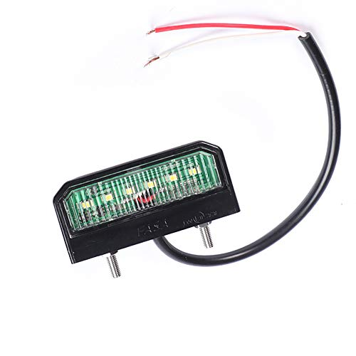 Fajerminart 6 LED Chips Lámpara De Placa De Matrícula De LED, 12V...