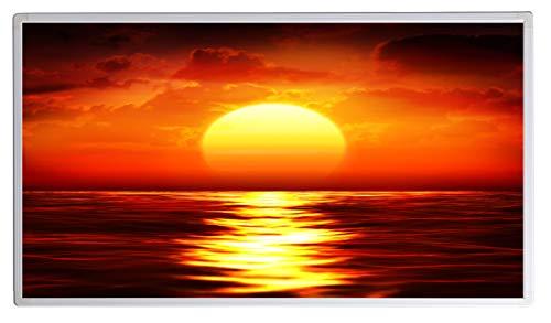 IH Engineering BV Bildheizung Infrarotheizung mit Digitalthermostat für Steckdose - 5 Jahre Herstellergarantie- Elektroheizung mit Überhitzungsschutz - TÜV geprüft - (Sonnenuntergang im Meer;450W)