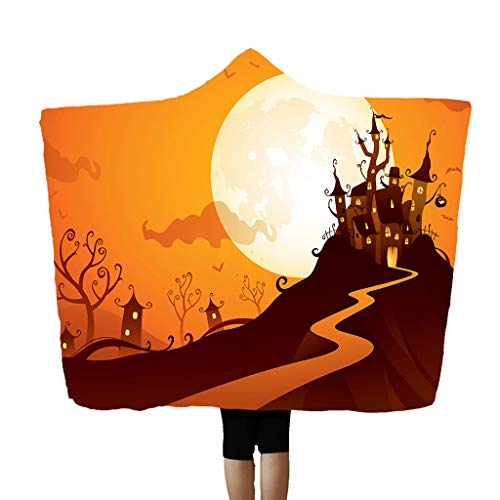 Daygeve Zuhause Party Deko, Anatomische Tracing, Medizinische Lehre, Halloween Dekoration Statue,Halloween Kapuzendecke Umhang Kappe Decke Klimaanlage Decke 150x200cm