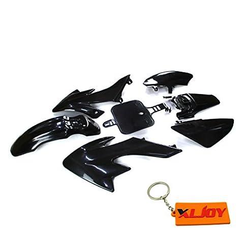 XLJOY Black Group Motorctcly Plastic Fender Kit Body Work Fairing Kit For SDG Honda Piranha Chinese 50cc 70cc 90cc 110cc 125cc 140cc 150cc 160cc CRF50 XR50 Pit Dirt Bike