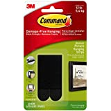 3M Command Plastic Picture Hanging Strips - Medium (White, 4-Strip, Pack of 6)