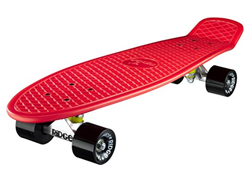 Ridge Skateboard Big Brother Nickel 69 cm Mini Cruiser, rot/schwarz