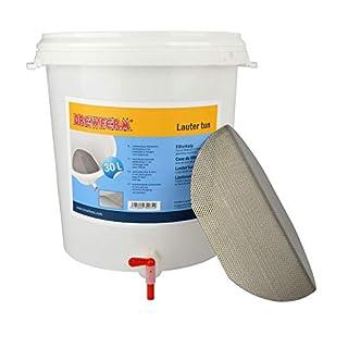 Läutereimer 30 l mit Edelstahl Filterboden zum Läutern der Maische beim Bierbrauen Läuterbottich für Hobbybrauer