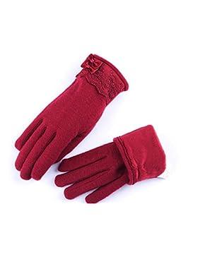 QKR&bellissimi guanti inverno guanti versione coreana Touch screen guanti Femmina Doppio strato più velluto lana...