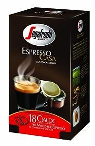 Segafredo Espresso Case ESE Coffee Pods (6 Packs of 18)