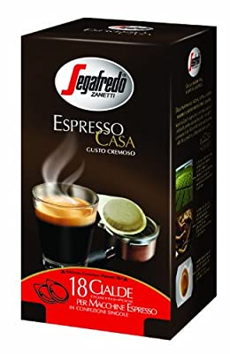 Segafredo Espresso Case ESE Coffee Pods (6 Packs of 18)