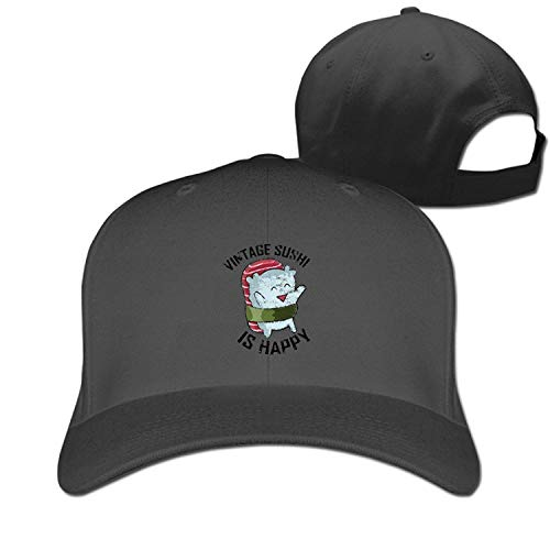 (Vintage Sushi Hear Ghost Fashion Pure Color Baseball Caps Unisex)