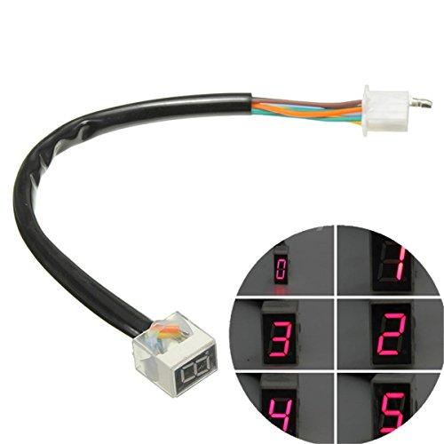 Moppi rosso led 6 marce visualizzazione indicatore moto sensore leva del cambio universale digitale