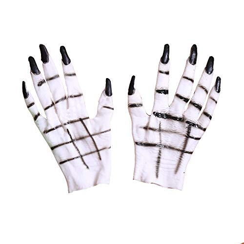 Horror White Ghost Handschuhe, Halloween-Requisiten Masquerade Party Liefert Party Dress Up